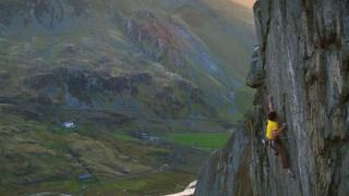 Ioan Doyle climbing the Ogwen Crack