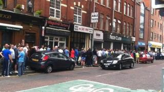 Queue for Celtic tickets