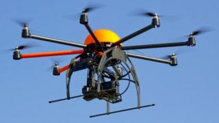 Octocopter unmanned aerial vehicle