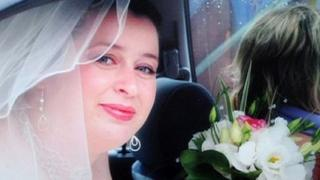 Andrea West on her wedding day
