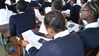 Learners at Intshisekelo High School in Durban