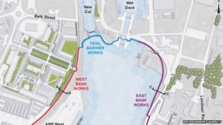 Ipswich flood barrier plan