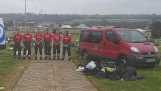 Firefighters at Glastonbury Festival