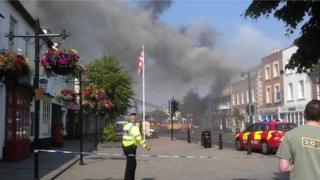 Fire at Cross Keys pub in Royal Wootton Bassett in Wiltshire