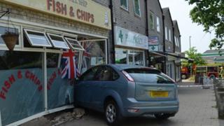 Fish and chip shop crash