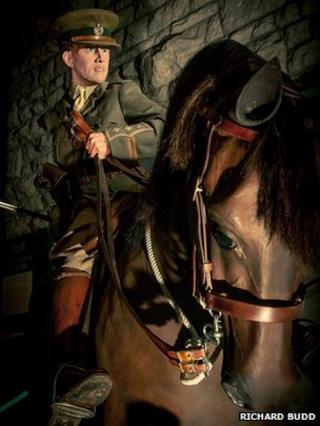World War I soldier on horseback on show at the Keep Military Museum in Dorchester