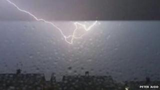 Lightning strike in Ashford