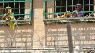 Migrants in detention at Lyster Barracks in Malta, 19 Jul 13