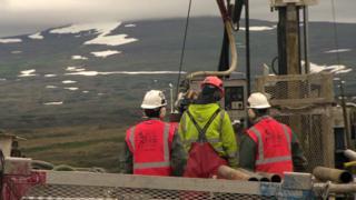 Pebble mine workers, Alaska