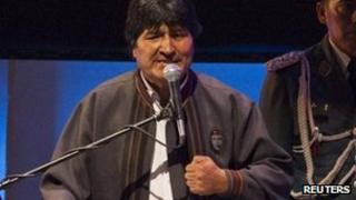 Bolivia's President, Evo Morales