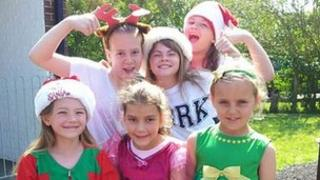 Children at Portway Junior School dressed in their Christmas clothes