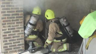 Berkshire firefighters tackle live fire exercise in Bracknell