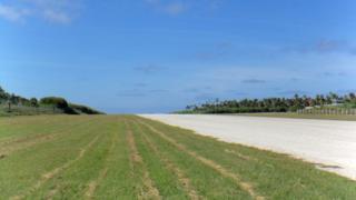 Empty runway at Tonga