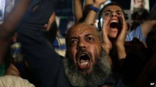 Pro-Morsi protest in Nasr City, Cairo, 28 July 2013