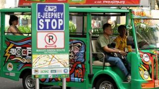 E-jeepney stop