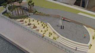 Model of the proposed memorial site