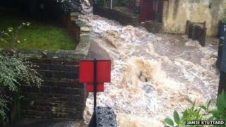 Flooding in Todmorden