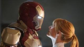 Gwyneth Paltrow and friend in Iron Man 3