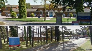 Cransley Hospice (top) at St Mary's Hospital in Kettering and Cynthia Spencer Hospice (bottom) in Northampton