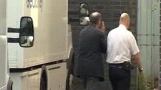 John Allen arriving in court