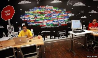 A 'tech-stop' at New York's Google office