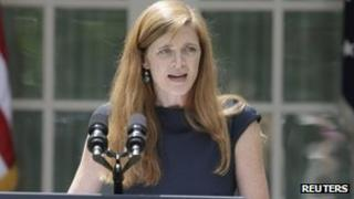Samantha Power, shown at the White House (5 June 2013)
