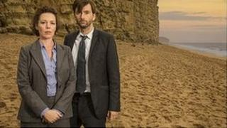 Olivia Colman and David Tennant