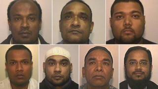 (Top from left) Lutfur Rahman, Ataur Talukdar, Haroon Miah (Bottom from left) Mohammed Motiur Rahman, Mohammed Habibur Rahman, Juber Ahmed, Wahidur Rahman