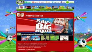 Match of The Day Kickabout website