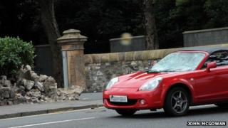 Car collision in largs