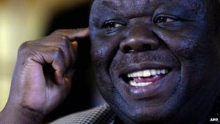 Prime Minister of Zimbabwe Morgan Tsvangirai addresses a media conference in Harare on August 3, 2013.