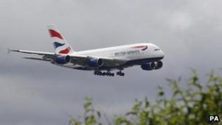 A British Airways liveried Airbus A380