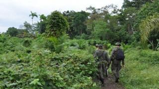Police on patrol in Narino in 2009