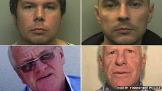 Paul Edwards (top left), Paul Tinsley (top right), Thomas Cottam (bottom left) and Robert Cann (bottom right)