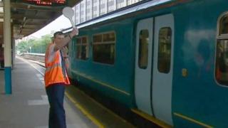 Rail station worker