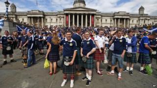 Fans in London