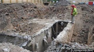 World War II bunker found at Dover Hospital site