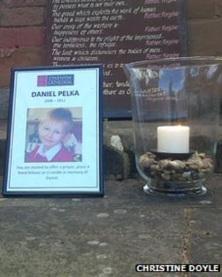 Daniel Pelka memorial at Coventry Cathedral
