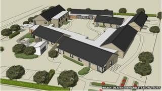 An artist's impression of the Brain Injury Rehabilitation Trust centre of excellence in Llanelli
