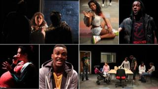 The cast of Home at the National Theatre