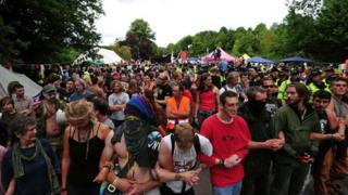 Protesters at Balcombe