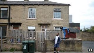 A house on Frank Street, in the Little Horton area of Bradford, where a 13-year-old boy has suffered serious injuries in a dog attack