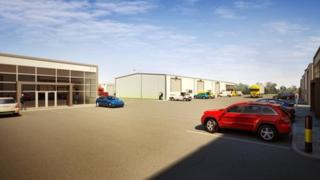 Artist impression of new business units