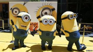 Minion characters from Despicable Me 2.