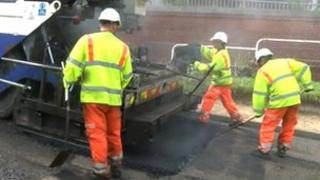 Resurfacing work in Sheffield