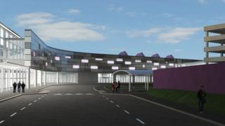 Artists's impression of the new-look airport