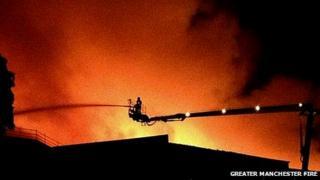 Fire service at the scene