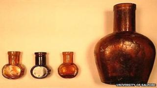 Bovril bottles from Hulme Barracks