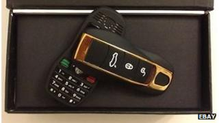 Car key fob mobile phone