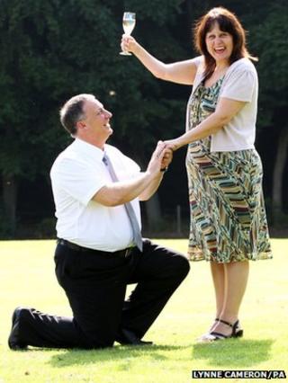 Graham Nield and Amanda Vickers